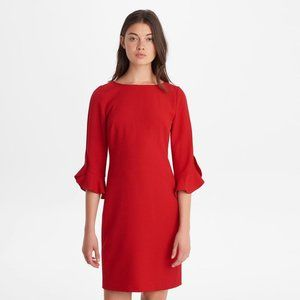 Karl Lagerfeld Red Dress with Flounce Sleeves